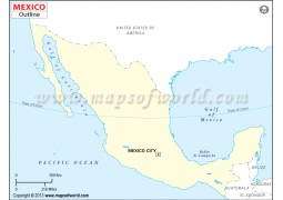 Mexico Outline Map