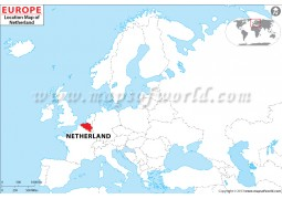 Netherlands Location on World Map