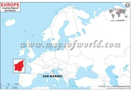 San Marino Location Map