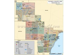 Oconto County Map