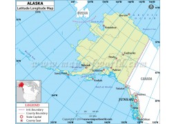 Alaska Latitude Longitude Map