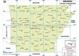 Arkansas Latitude Longitude Map