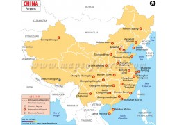 China Airport Map