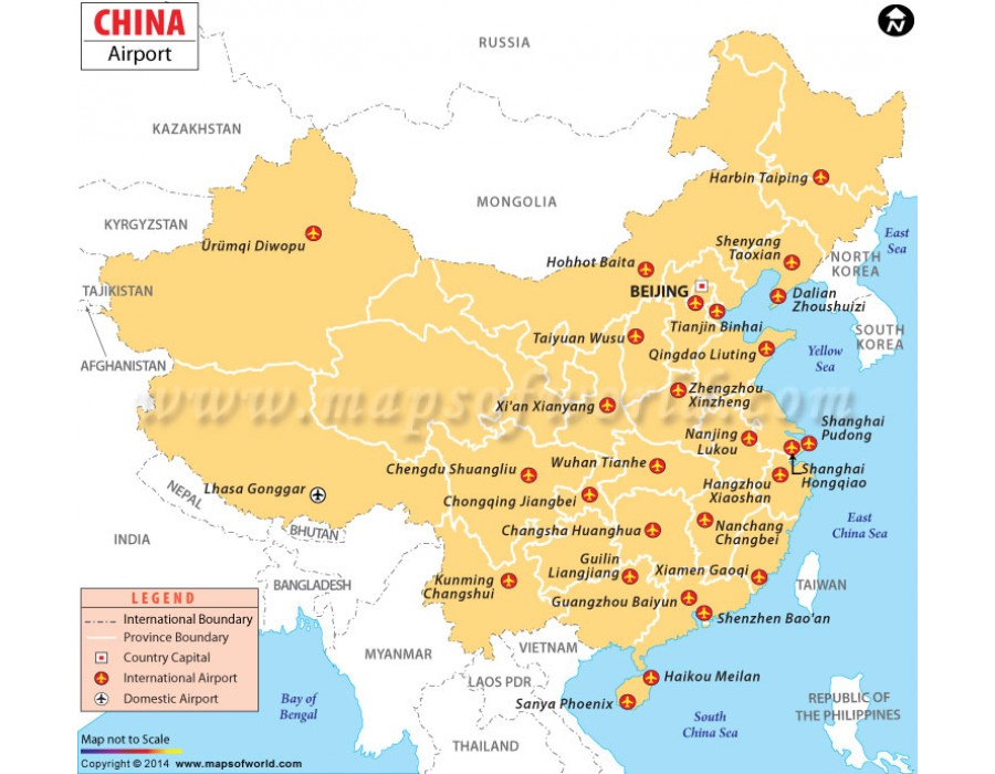 Buy China Airport Map