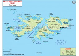 Falkland Island Road Map