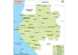 Gabon Road Map