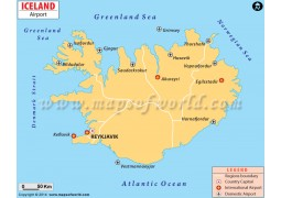Iceland Airport Map