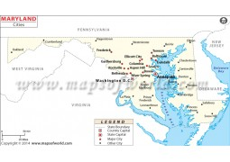 Maryland Cities Map
