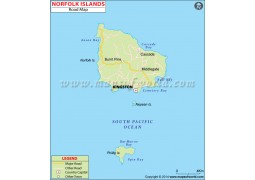 Norfolk Islands Road Map