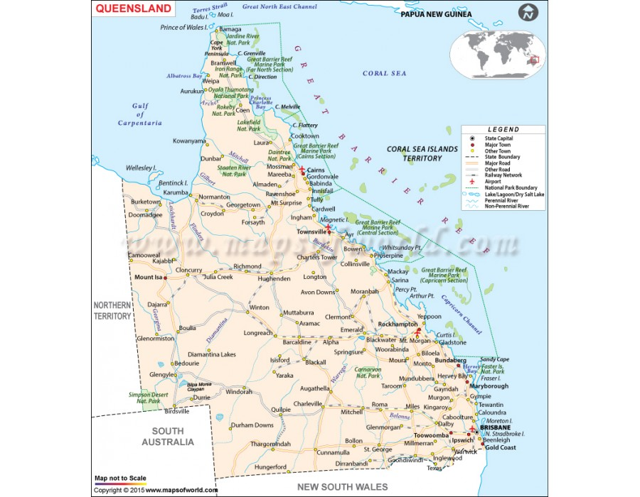Buy Queensland State Map