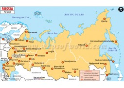Russia Airport Map