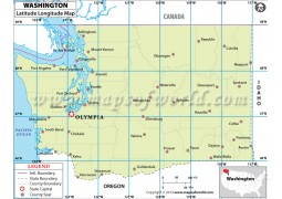Washington Latitude Longitude Map