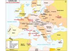 Europe 1945 The Second World War Digital Map