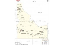 Idaho Map with Cities