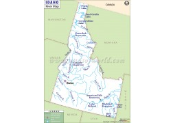 Idaho River Map