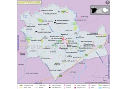 Montpellier City Map