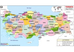 Turkey Map In Spanish