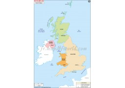 Royaume-UNI Carte Politique-United Kingdom Political Map
