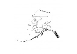 Alaska County GIS Shapefile