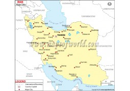 Iran Cities Map
