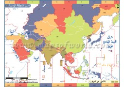 Asia Time Zone Arabic