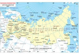 Russia Latitude and Longitude Map