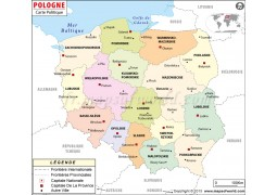 Poland Map In French