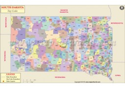 South Dakota Zip Code Map