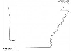 Arkansas Outline Map