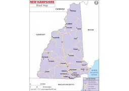 New Hampshire Road Map