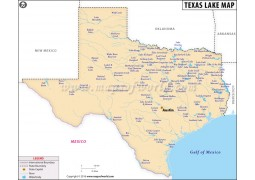Texas Lakes Map