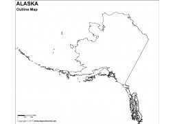 Alaska Outline Map