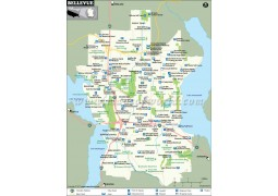 Bellevue City Map, Washington