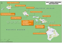 Map of Hawaii Wedding Destinations
