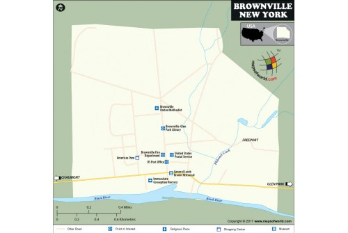 Brownville Village Map, New York