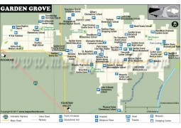 Garden Grove City Map, California