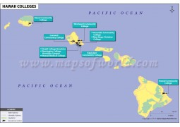 Map of Hawaii Colleges