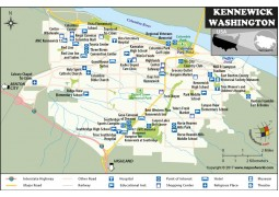 Kennewick City Map, Washington