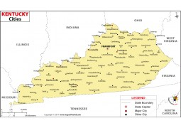 Kentucky Cities Map