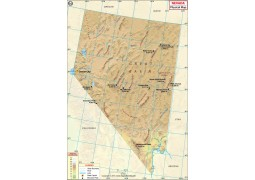 Physical Map of Nevada