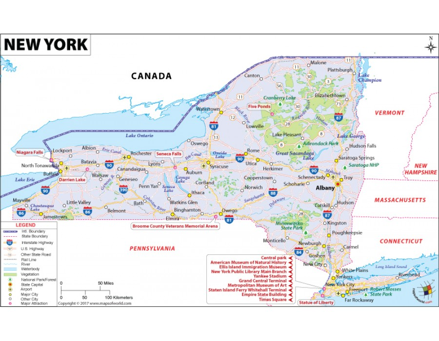 Buy New York Map In Raster And Vector File Format