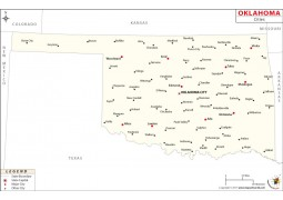 Oklahoma Cities Map
