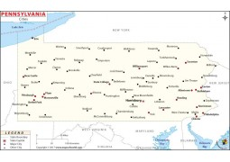 Pennsylvania Map withCities