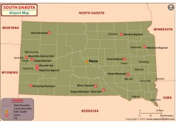 South Dakota Airports Map