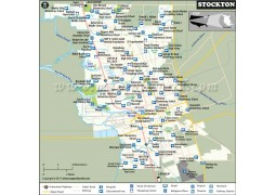 Stockton City Map, California