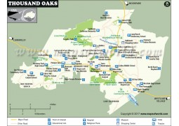 Thousand Oaks Map, California