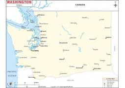 Washington State Cities Map
