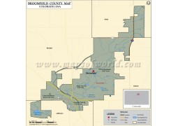 Broomfield County Map, Colorado