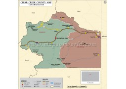 Clear Creek County Map, Colorado