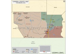 Conejos County Map, Colorado
